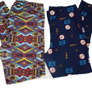 Lularoe leggings set of two pair size TC